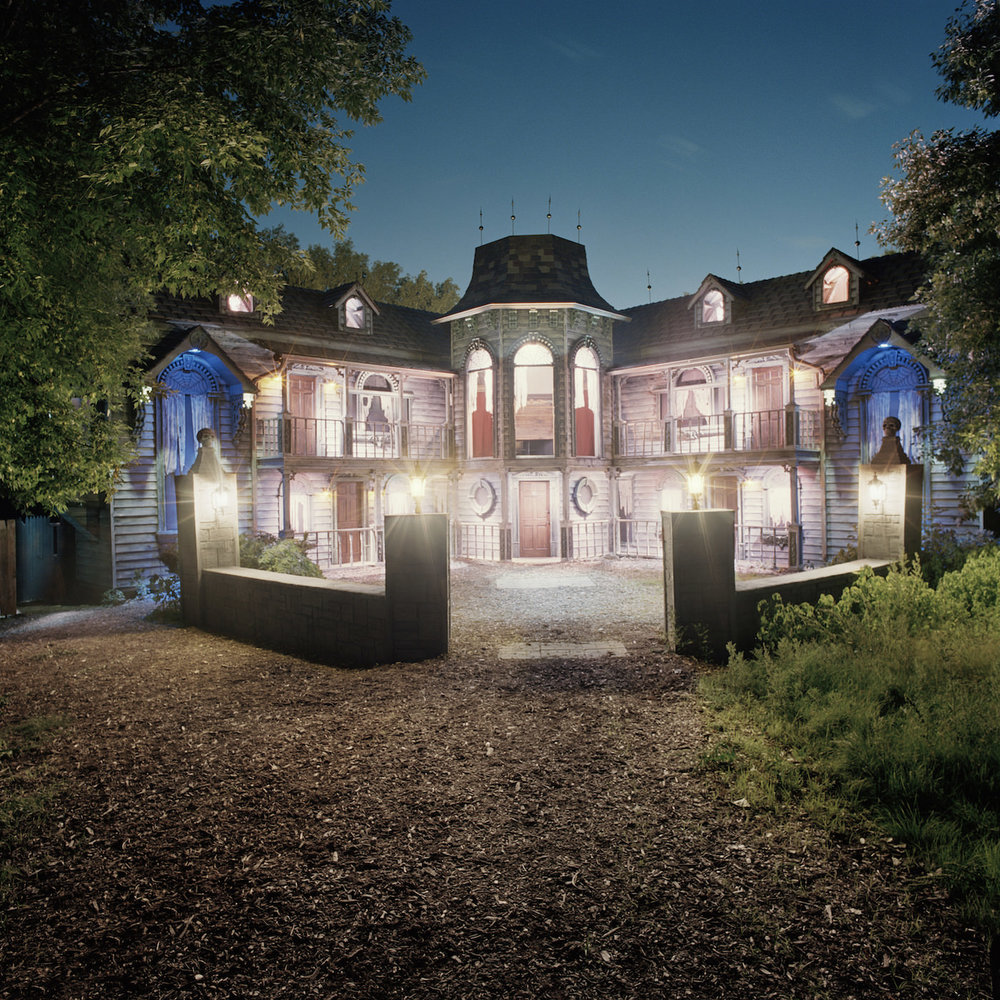 "Misty Keasler, ""Black Thorne Manor, Terror on the Fox, Green Bay, WI"" (2016), archival pigment print, 60 × 60 inches (courtesy the artist and the Public Trust)"