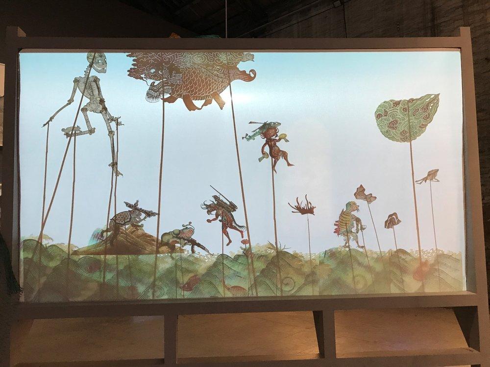 Wang Tianwen,Wu Jian'an, Tang Nannan, Yao Huifen, Continuum-Removing the Mountains and Filling the Sea,Shadow play screen, 2015
