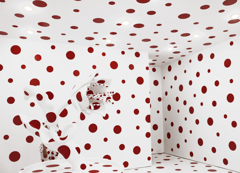 yayoi kusama, with all my love for the tulips, i pray forever; festival of life, david zwirner,image ©  designboom