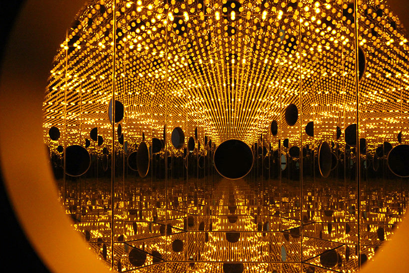 yayoi kusama, infinity mirror room- longing for eternity; festival of life, david zwirner,image ©  designboom