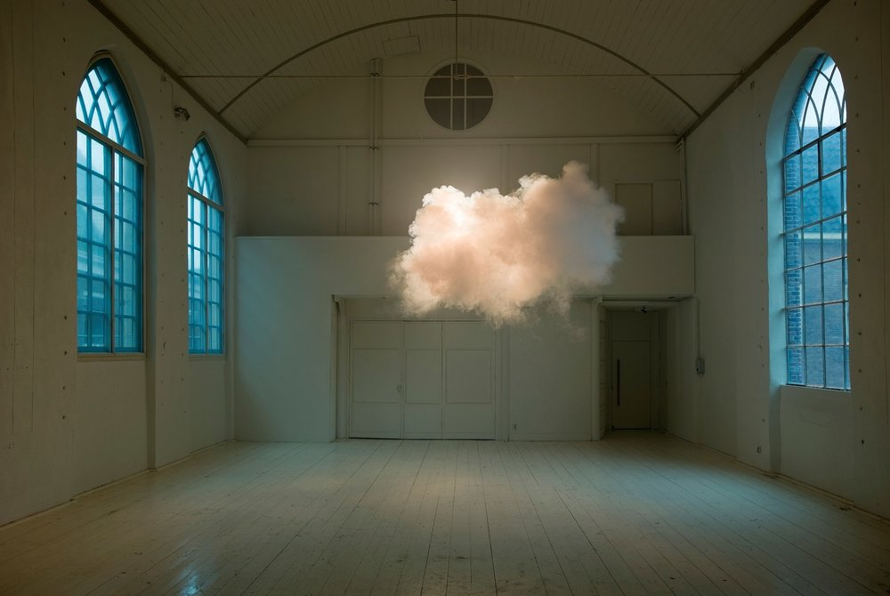 Berndnaut Smilde, Nimbus II, 2012, , lambda print on dibond, 75 x 112 cm, ed. of 3+2 AP. Courtesy the artist and Ronchini Gallery