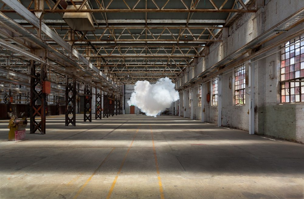 Berndnaut Smilde, Nimbus Midland, 2017, c-type print on aluminium, 125 x 190 cm _ 75 x 114 cm. ed. 6+2AP. Courtesy the artist and Ronchini Gallery