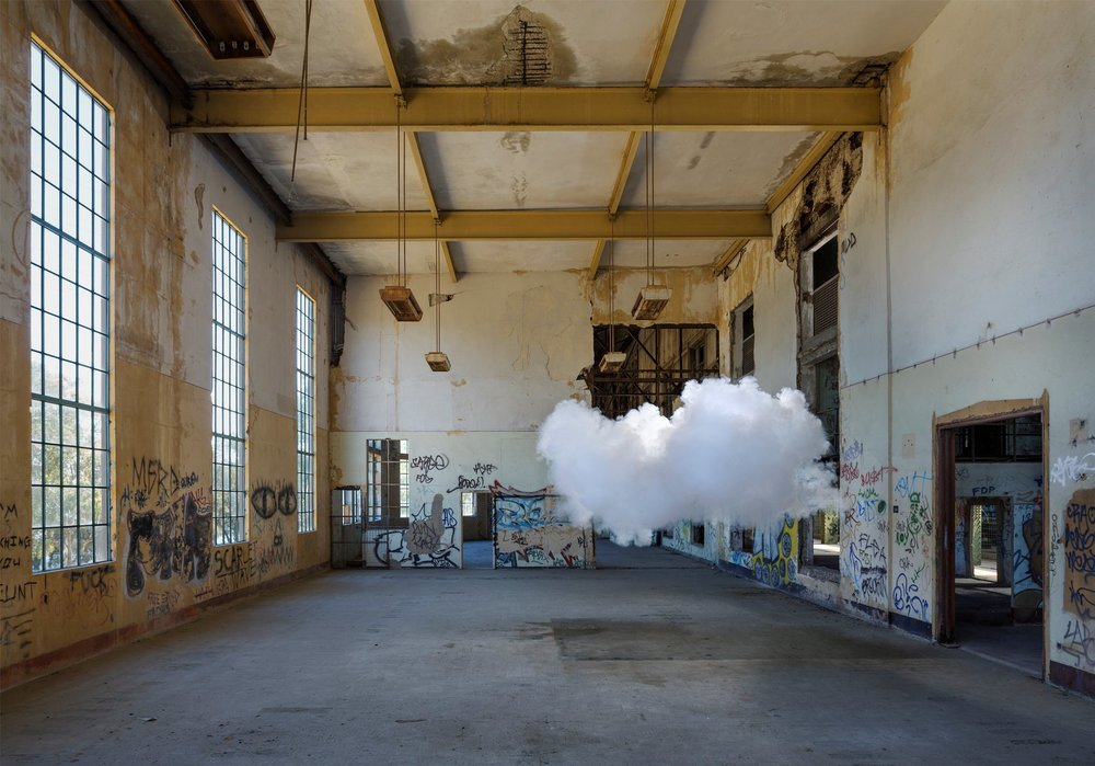 Berndnaut Smilde, Nimbus Powerstation, 2017, c-type print on aluminium, 150 x 214.5cm, courtesy  the artist and Ronchini Gallery