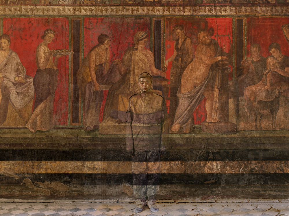 Liu Bolin, Villa dei Misteri, Pompei, Courtesy Boxart Verona
