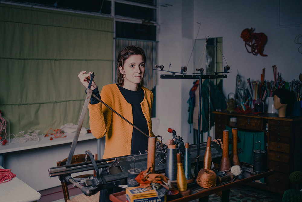 Sophie Dalla Rosa, Knitter, Paris, France, 2018