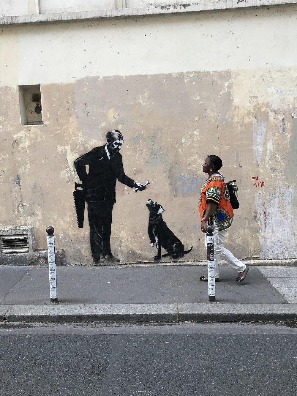 Banksy, image ©  @WhereTheresWalls