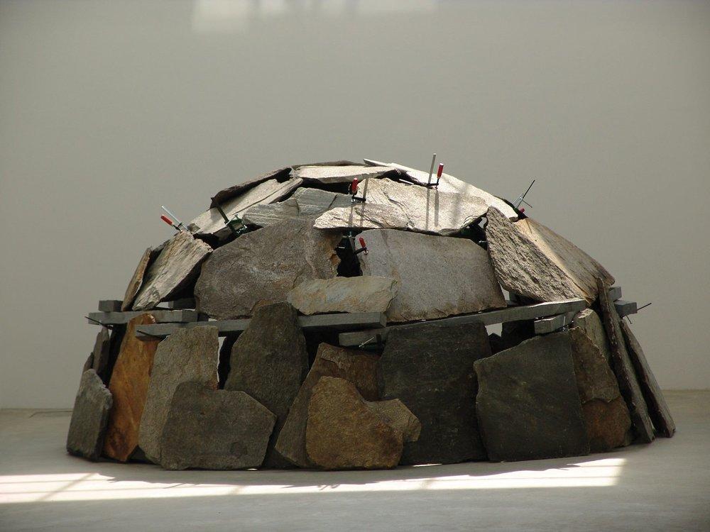 Mario Merz; Senza titolo, 1991; Installation view, Fondazione Merz, Turin, 2005; Courtesy Fondazione Merz, Turin; Photo: © Paolo Pellion © Mario Merz, by SIAE 2018
