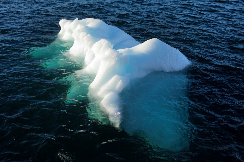 ghiaccio galleggiante in nuup kangerlua, in Groenlandia. foto: studio olafur eliasson , © 2018 olafur eliasson