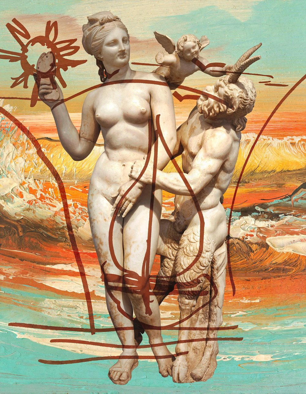 Jeff Koons (b. 1955); Antiquity 1; 2009–12; Oil on canvas; 274.3 x 213.4 cm; Collection of the artist © Jeff Koons. Photo: Tom Powell Imaging