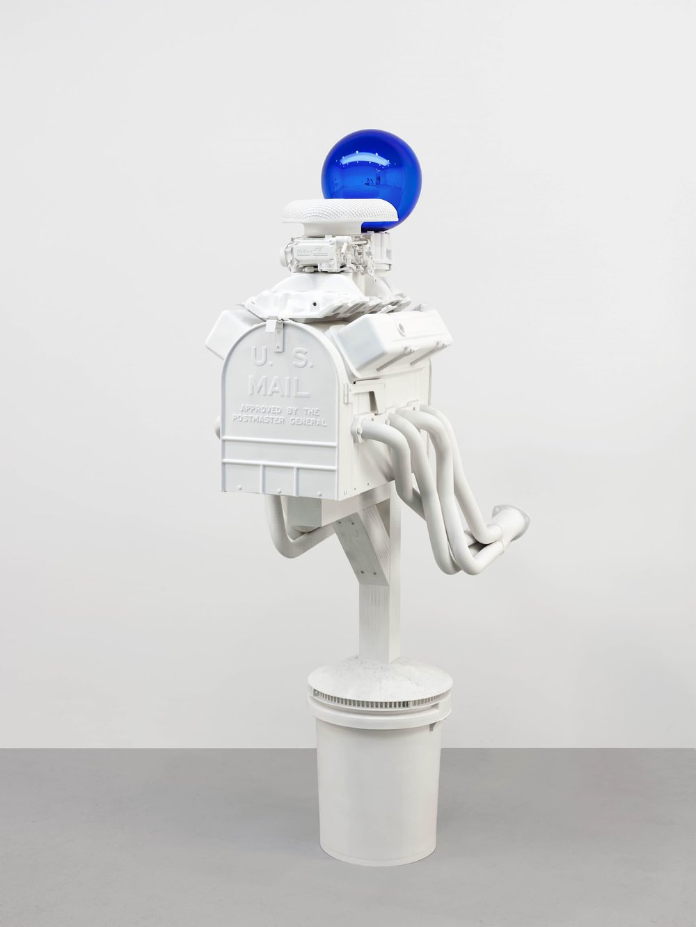 Jeff Koons (b. 1955); Gazing Ball (Mailbox); 2013; Plaster and glass; 188.6 x 61.9 x 105.4 cm; Artist's proof of an edition of 3 plus AP; Collection of the artist © Jeff Koons. Photo: Tom Powel Imaging. Courtesy David Zwirner
