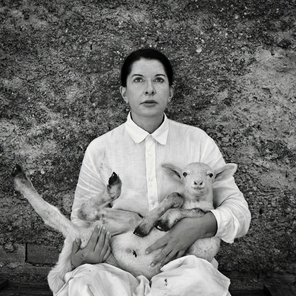 Marina Abramovic, Portrait with Lamb (white), 2010. Wilde | Geneva, Switzerland