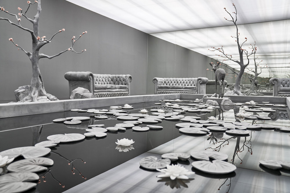 Hans Op de Beeck, The Garden Room, sculptural installation, 2017