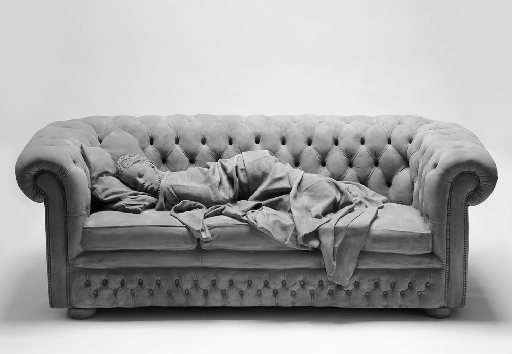 Hans Op de Beeck, Sleeping Girl, sculpture, 2017. Mixed Media