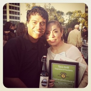 Leticia and Arturo at the 2012 Indie Awards