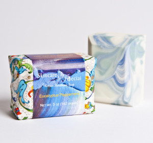 New Packaging for Eucalyptus Peppermint Soap from Skincare by Feleciai