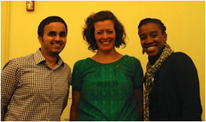 Damanbir Singh (MBA Advisor), Eden Tosch (Entrepreneur), and Séphora Pierre-Louis