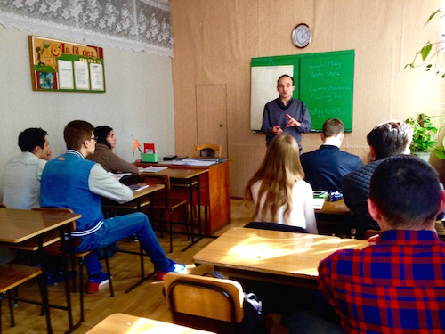 Oleg, one of our partner entrepreneurship trainers at our new affiliate organization in Moldova, Kingdom Paradigm.