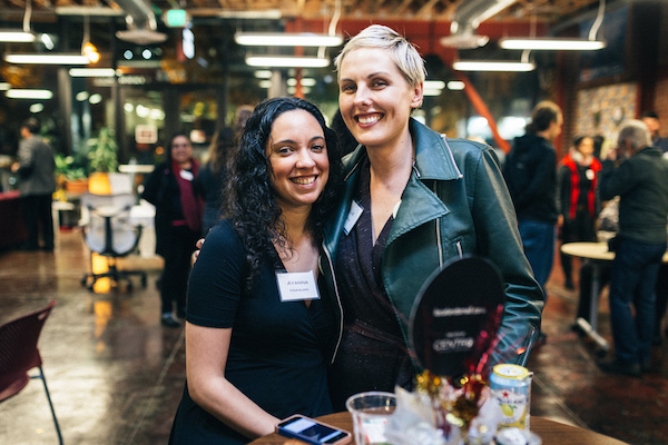 Ayanna Makalani (left) and Nellie Stokeld (right), two of Centro's 2016 Small Business Owner of the Year. Photo credit:  Pavel Fedorov .