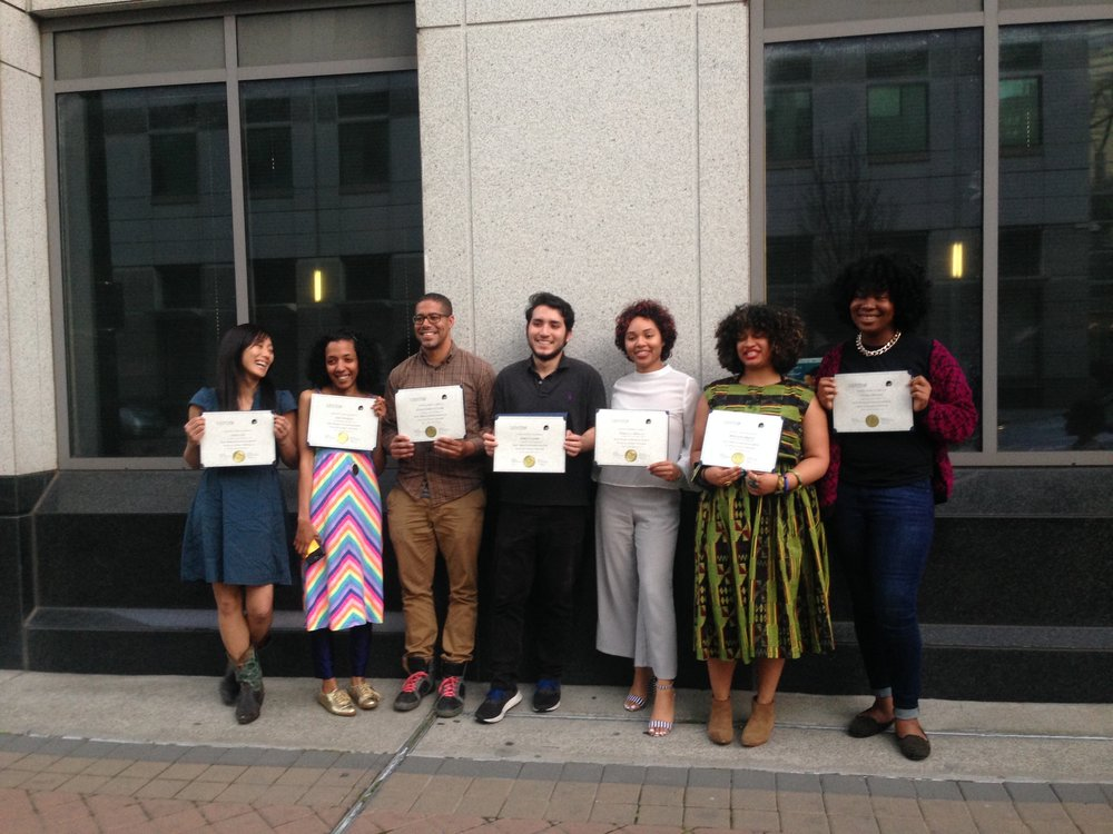 Graduating class of Centro's Basic Entrepreneurship Program in Oakland, CA.