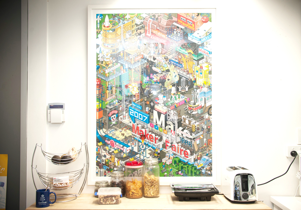 The kitchen, where the food lives. Photo by Rachel Yabsley for The Dream Job.