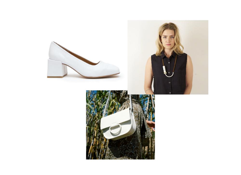 shoes:  loq , necklace:  maslow , handbag:  crescioni