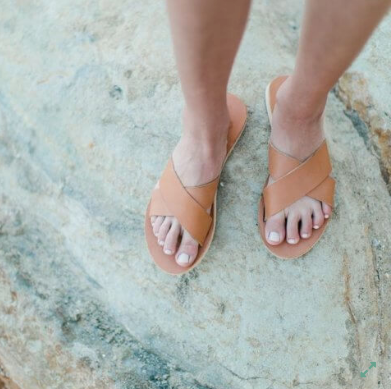 Crossover Slide Sandal - These are the perfect basic summer sandal. Classic and so easy to throw on and look put together