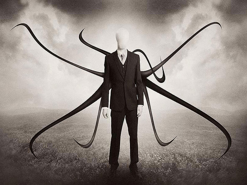 Photo of the fictitious Slender Man