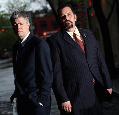 Retired New York City detectives Kevin Gannon and Anthony Duarte.