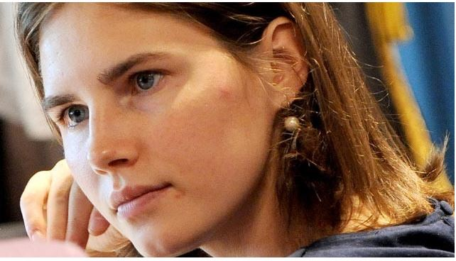 Amanda Knox during trial.