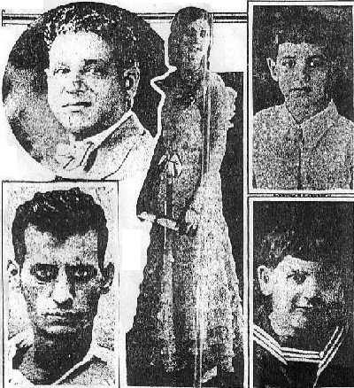 Photo from newspaper article of Licata family massacre.