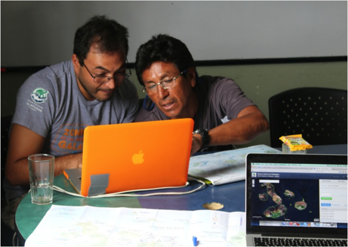 PNG and CI staff interview local fishers to map out valued areas.