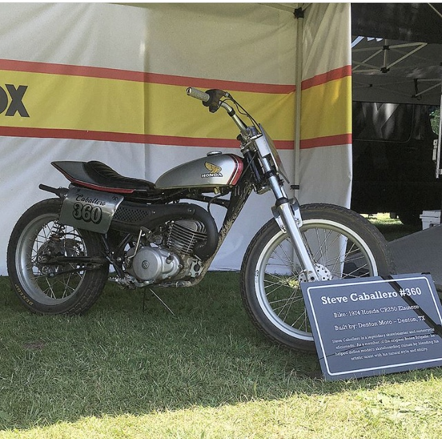 The Meta Magazine MT250 Brotherbike was on display at the FOX Racing booth.