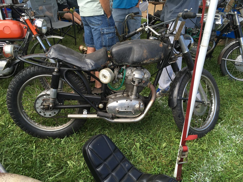 A cool old Ducati scrambler. This was on display, NFS.