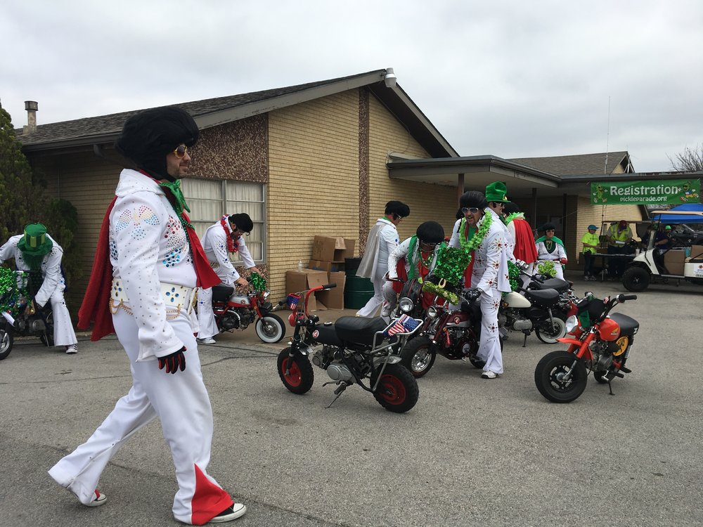 Yes we are grown men riding parades on minibikes in Elvis costumes...what's not to like?