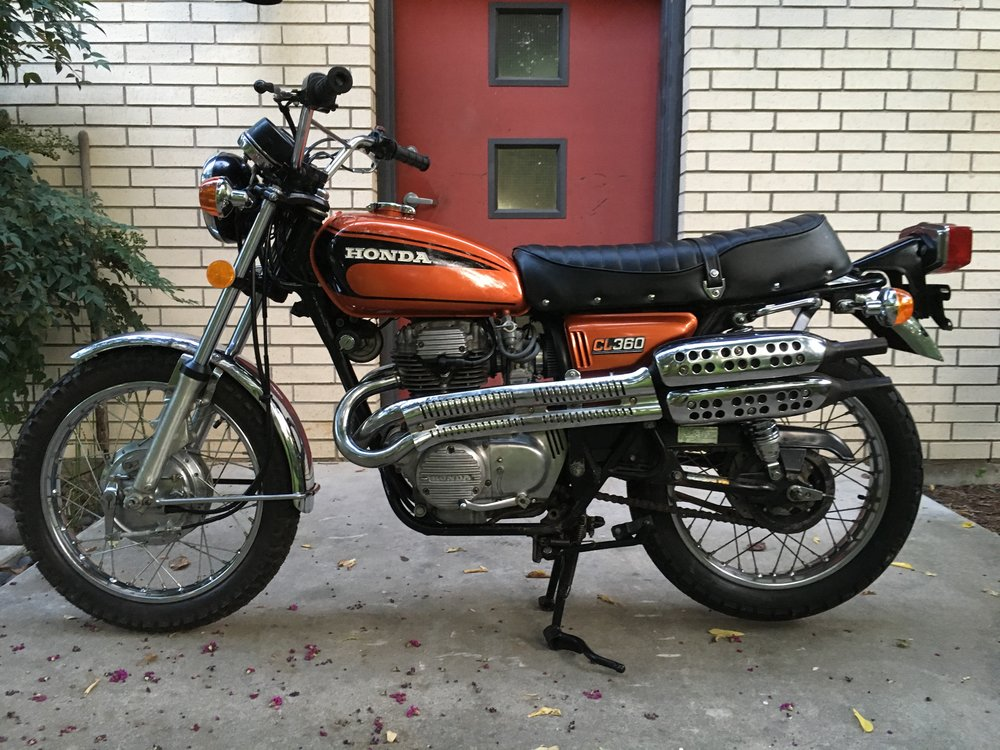 The 1975 CL360 will be looking for a new owner at the movie night.