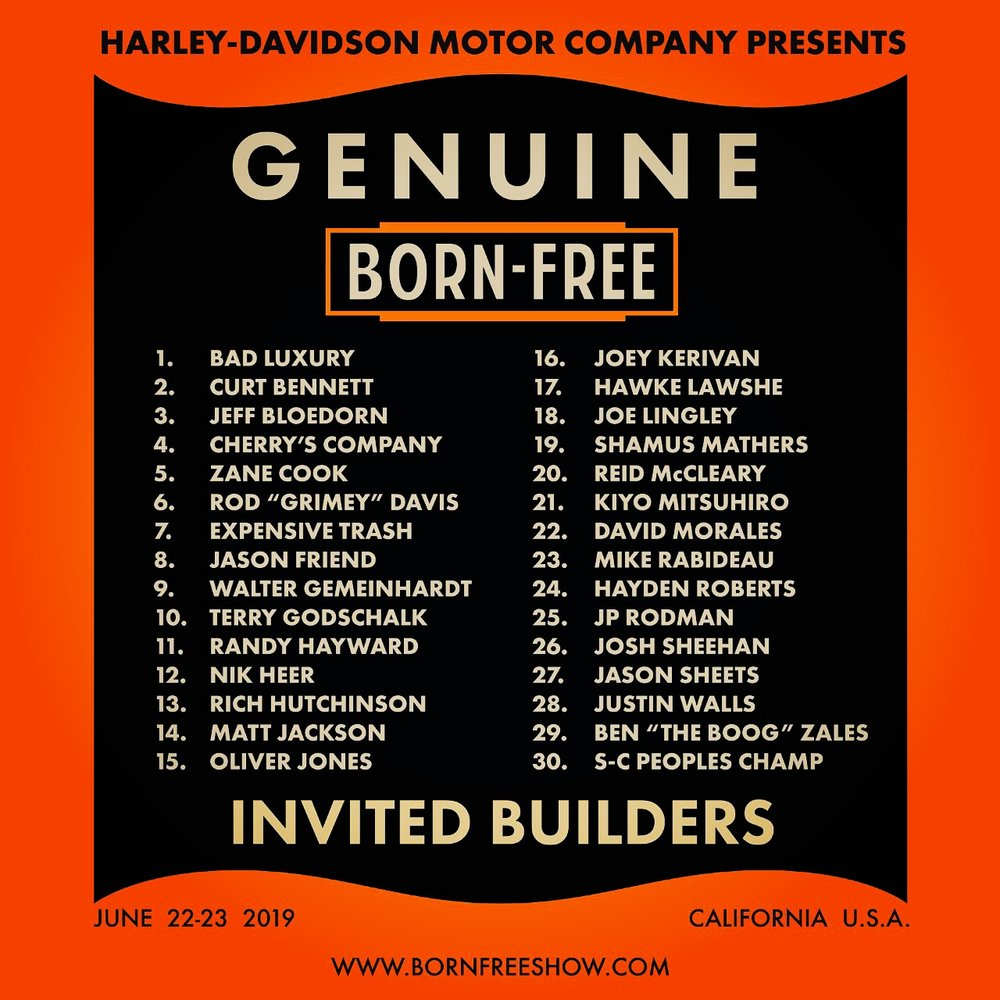 Number 22. Thank you Bornfree Show! The plan is to bring a 1957 Triumph Thunderbird custom. June will be here before we know it! #bornfreeshow #bf11 #bf11invitedbuilder