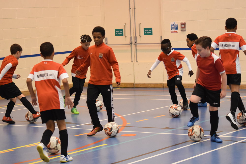 FUTSAL  PROGRAM - The Invitation FUTSAL programme is our programme for advanced U8 - U15 players who wish to use Futsal as a development tool to aid their progression in football.