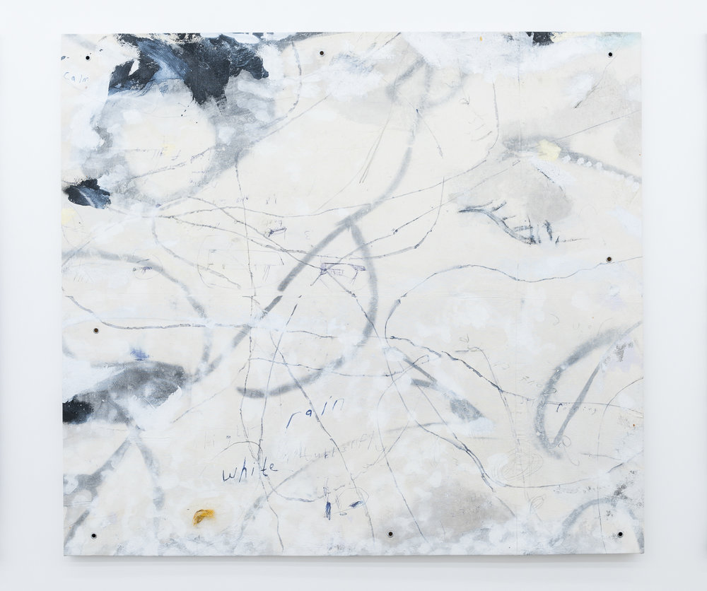 White Rain [Pacific Ocean], (2016), Chinese Ink, Oil, Acrylic, Enamel, Pen, Sand, Earth, Rust, Oilstick, Cuttlefish, Metal Grommets, Found Object and Petal on Canvas, 168x186cm LR.jpg