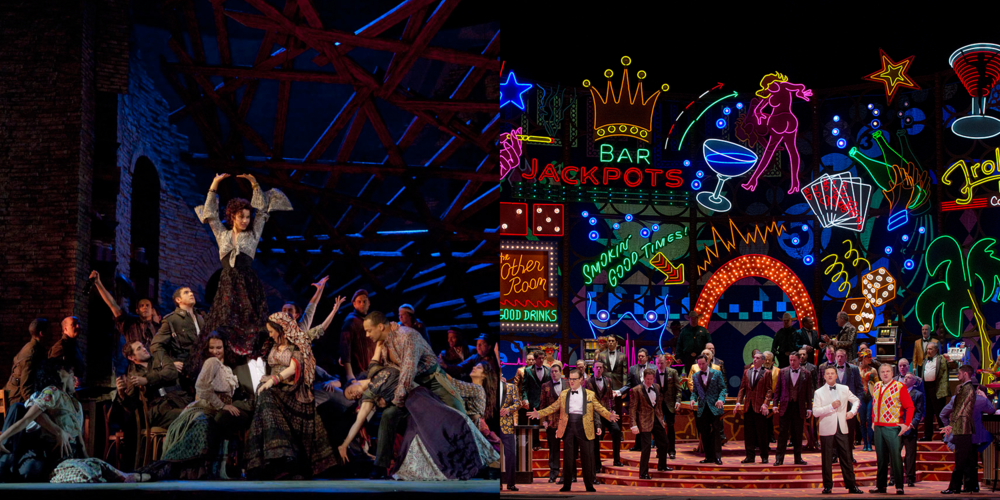Scenes from Carmen & Rigoletto. Photos: Ken Howard/Met Opera