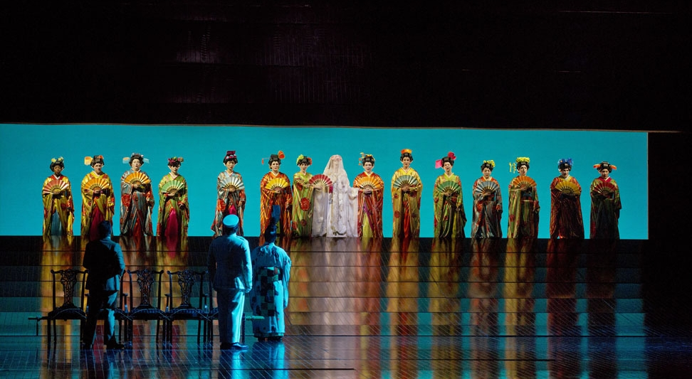 A Scene from Act 1 of Puccini's  Madama Butterfly.    Photo by Ken Howard/Metropolitan Opera