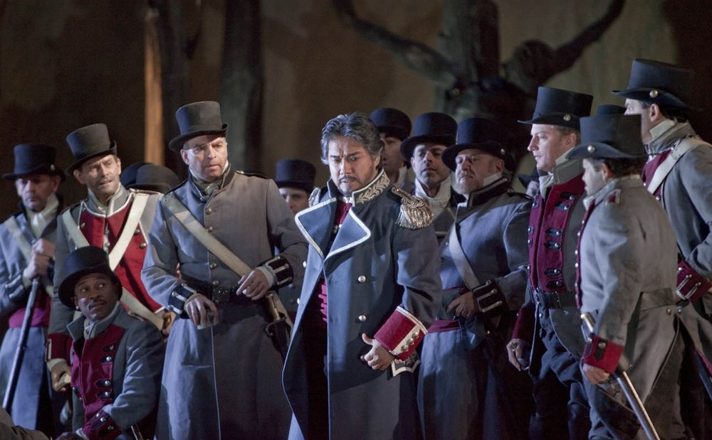 "A scene from Verdi's ""Il trovatore"". Photo: Ken Howard/Metropolitan Opera"