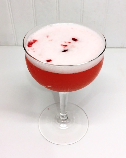 A cocktail fit for an ice princess hell-bent on beheading her suitors. Or, you know, just a nice drink for a Friday evening. Either works.