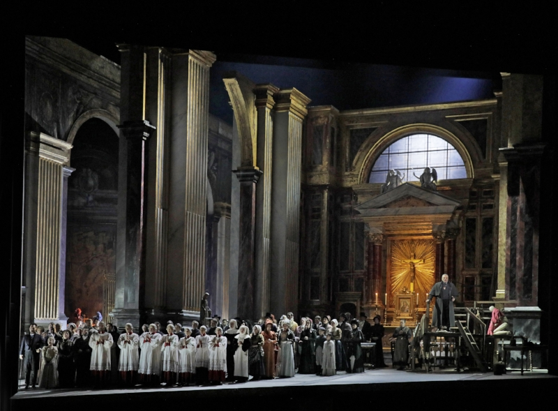 The 'Te Deum' scene from Tosca. Photo: Ken Howard/Metropolitan Opera.