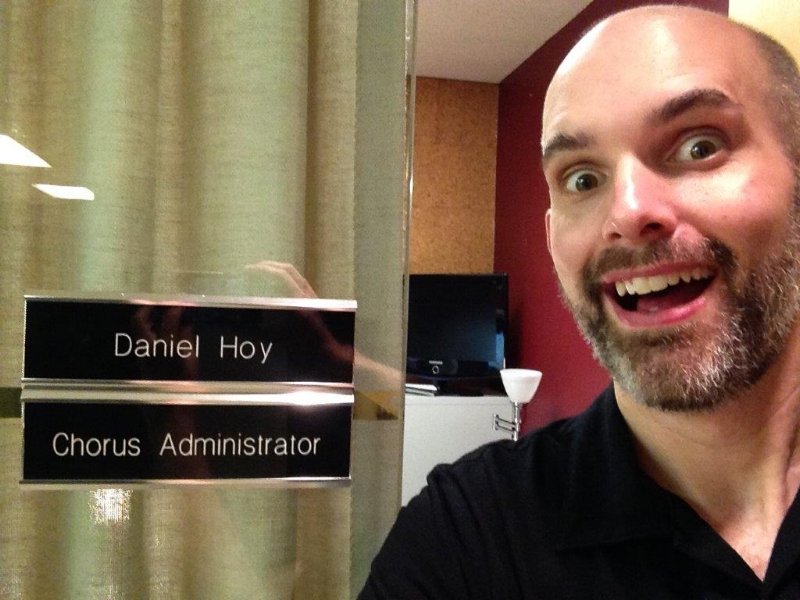 Dan's first week at work. His name is on the door and everything!