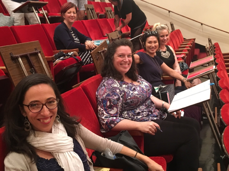 Some lovely chorus ladies getting prepared for rehearsal in List Hall! (Photo: Lianne Coble-Dispensa)