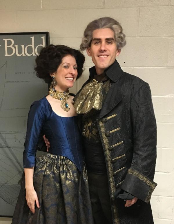 Lianne & Scott showing off their glamorous Romeo & Juliette costumes.