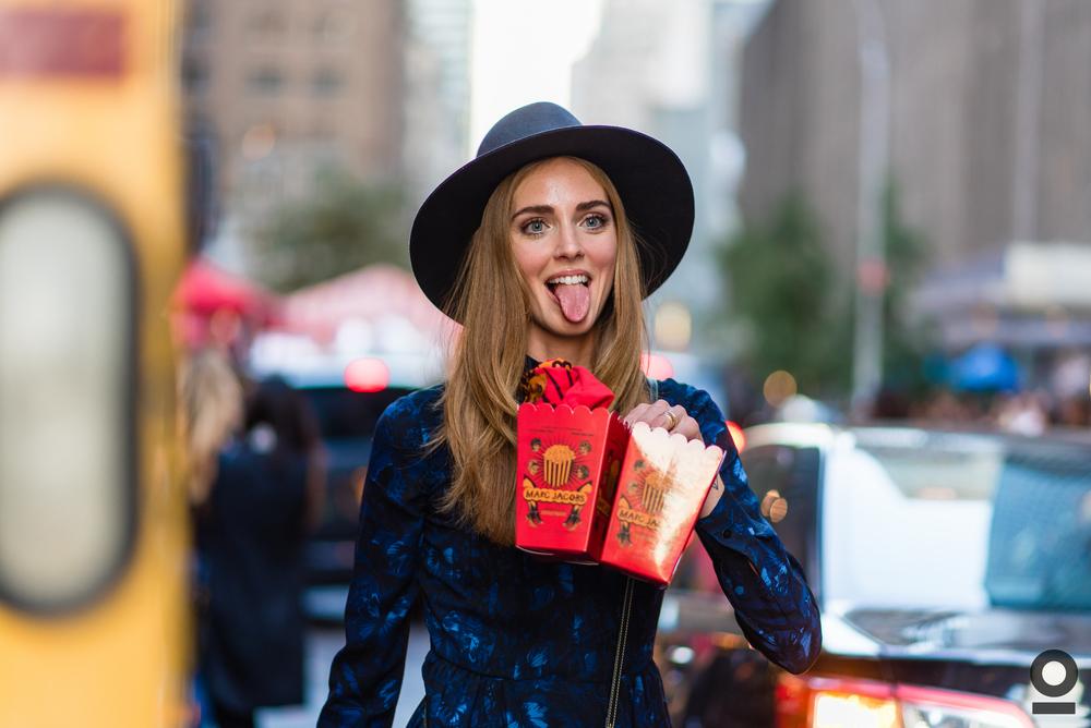 09.17.15 | Chiara Ferragni |NYFW SS16| Marc Jacobs SS16 |Ziegfeld Theatre