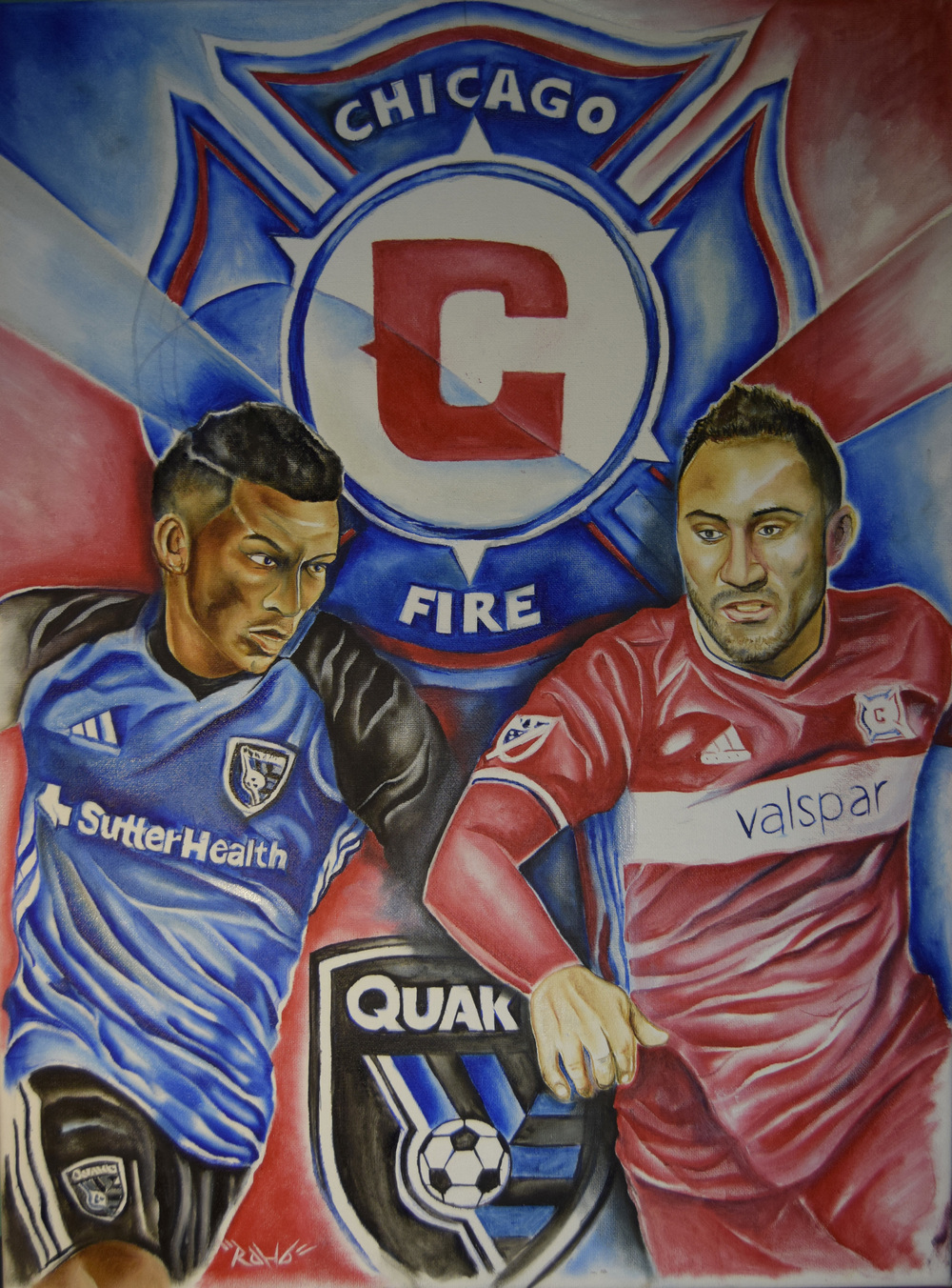 Chicago Fire FC Vs San Jose Quakes Game Day Poster V