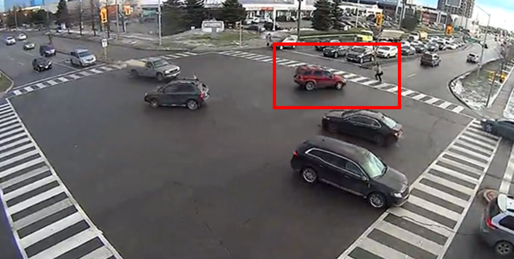 Left turn pedestrian conflict