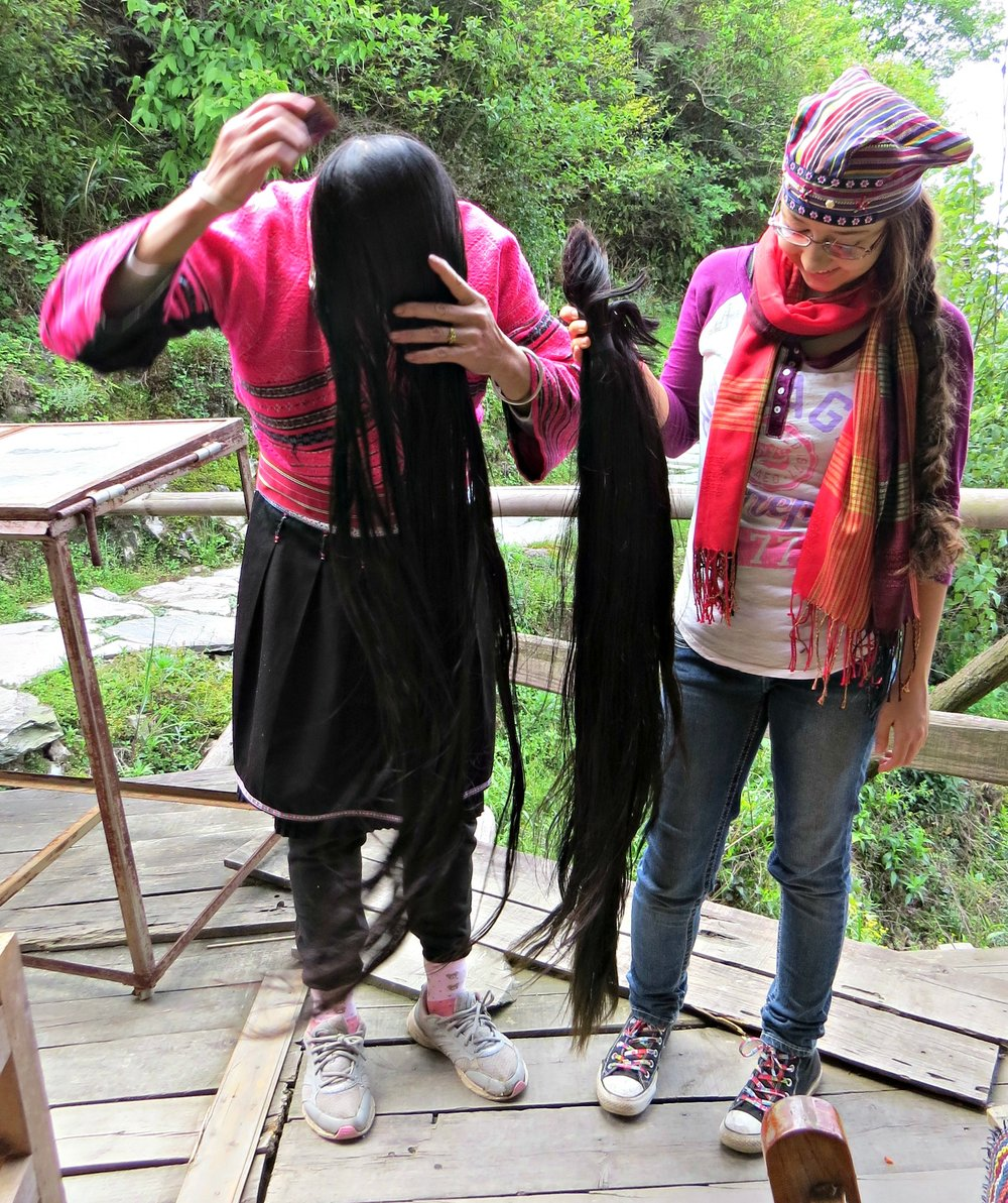 Yao Woman Letting Her Hair Down